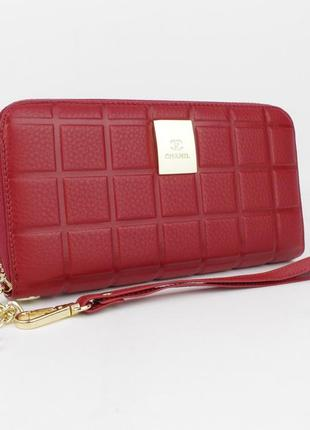 Кошелек женский кожаный на молнии 2-002-09 красный, расцветки5