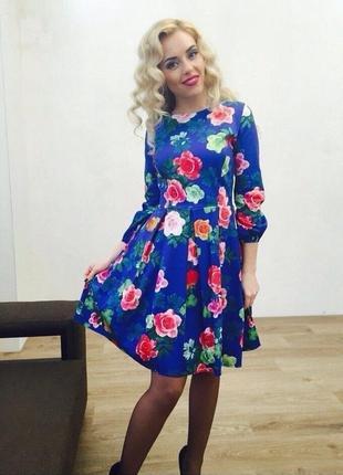 Яркое платье 44-46 размер1