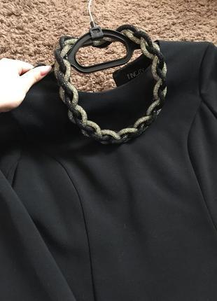Строгое чёрное платьице5