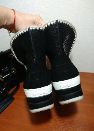 Зимние сапоги угии на платформе ботинки танкетка3
