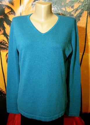 100% кашемир бирюзовый джемпер свитер пуловер  pure германия3