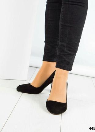 Замшевые туфли устойчивом каблуке рр. 394