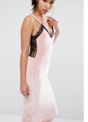 Супер секси платье нежного цвета2