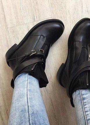 Ботинки женские  пряжка , ботинки женские осень2