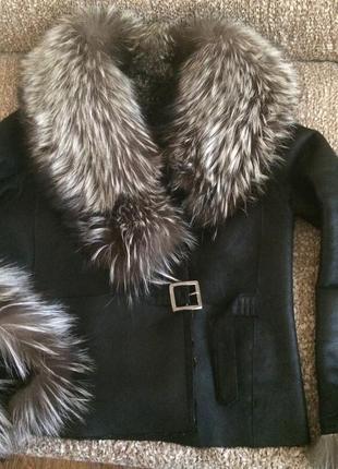 Шикарная куртка дублёнка класса люкс по суперцене5