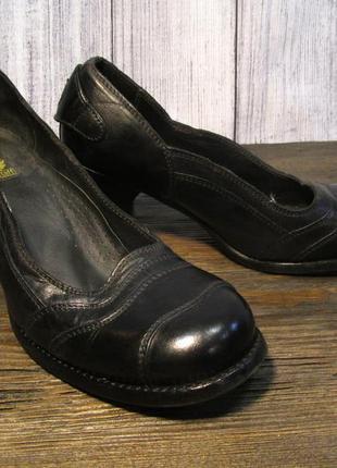 Туфли belstaff, 37 (25 см), кожа, черные, отл сост!1