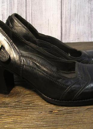 Туфли belstaff, 37 (25 см), кожа, черные, отл сост!2