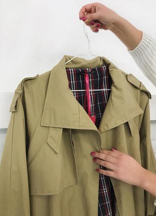 Бежевий тренч максі на запах оверсайз нюдовое пальто пальтишко макси тренч купить украина1