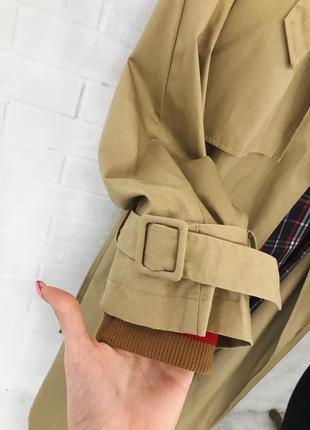 Бежевий тренч максі на запах оверсайз нюдовое пальто пальтишко макси тренч купить украина2