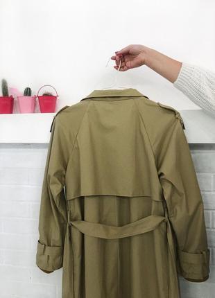 Бежевий тренч максі на запах оверсайз нюдовое пальто пальтишко макси тренч купить украина3