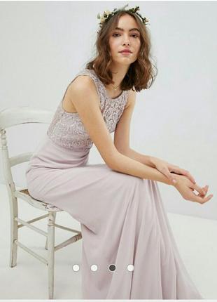 Платье кружевное со шнуровкой tfnc asos2