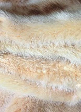 Роскошная норковая шуба поперечка капюшон 48р.италия4