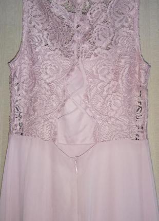 Платье кружевное со шнуровкой tfnc asos3