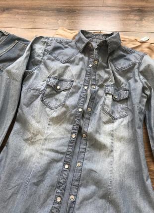 Крутая джинсовая рубашка4