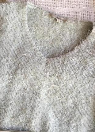 Бирюзовый свитер травка4