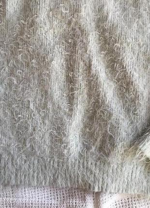 Бирюзовый свитер травка3