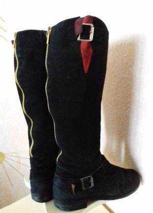 Зимові чоботи, натуральна замша р.371