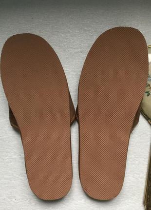 Шлепки тапочки кожаные шерстяные2