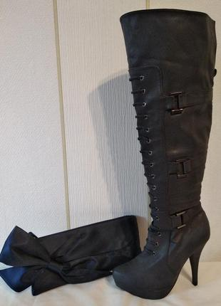 Стильные ботфорты/сапоги на шпильке fennika2