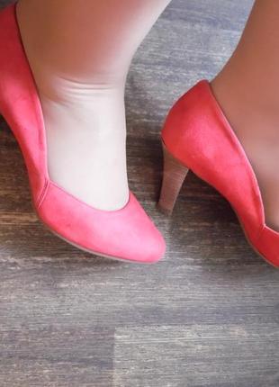 Стильные коралловые туфли, нат.замша footglove р-р 412