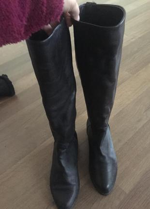 Кожаные сапоги ботинки clarks2