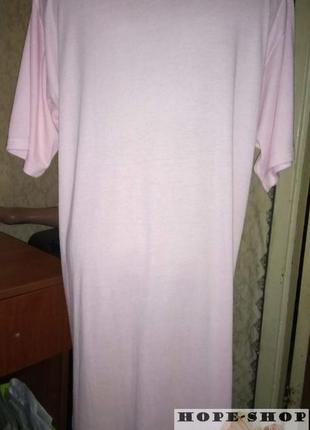 Домашнее розовое  платье -футболка,ночная рубашка,сорочка 12/144