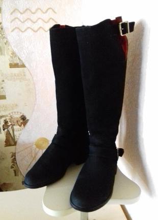 Зимові чоботи, натуральна замша р.375