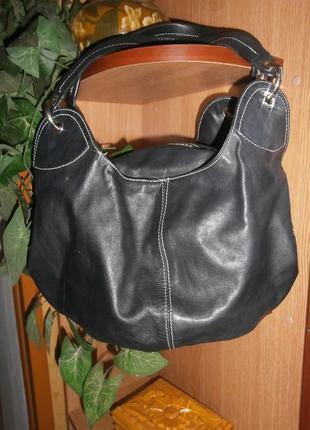 Шикарная большая сумка натуральная кожа1