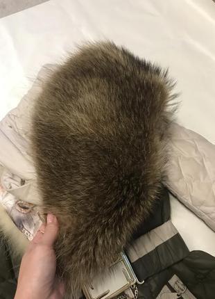 Зимний пуховик с натуральным мехом из лисы4