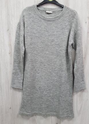 Серое теплое вязанное платье свитер lc waikiki xs,m2