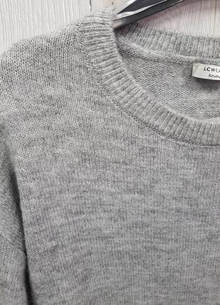 Серое теплое вязанное платье свитер lc waikiki xs,m3