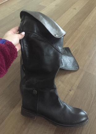 Кожаные сапоги ботинки miss sixty1