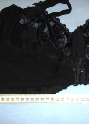 Кружевной бюстгальтер бюст лиф бюстик лифчик 105g 46g 105 g черный большой объем грудь5