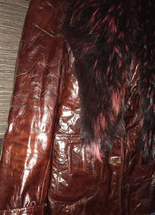 Куртка с мехом енота1