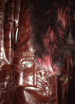 Куртка с мехом енота2