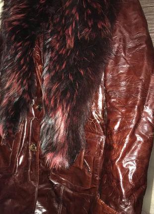 Куртка с мехом енота3