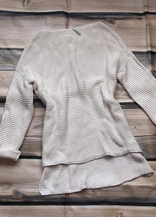 Молочный удлиненный стильный свитер-туника onesie3
