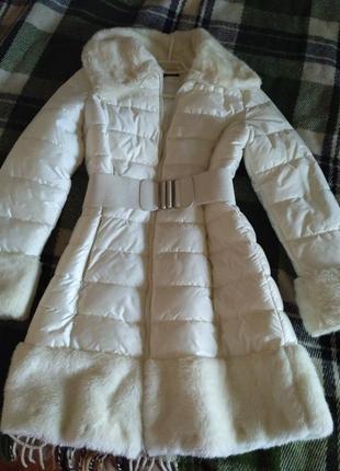 Пуховик пальто парка на синтепоне oodji1