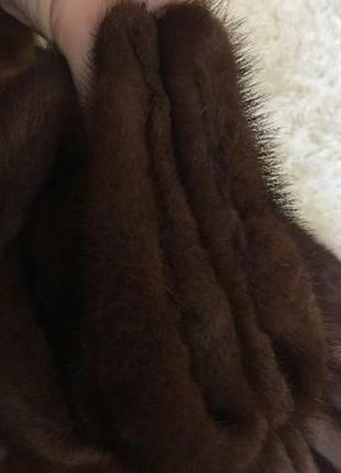 Роскошная норковая шуба капюшон 44р.5