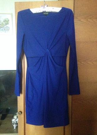 Платье цвета индиго1
