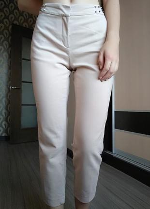Нереальные пудровые брюки1