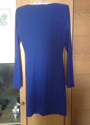Платье цвета индиго2