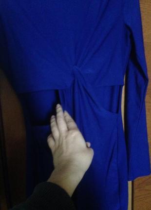 Платье цвета индиго3