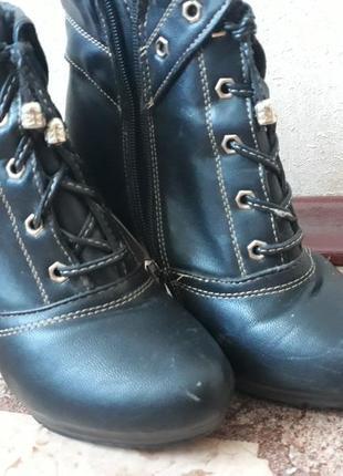 Удобные черевички. устойчевый каблук. дефекты на фото2