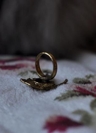 Кольцо с сойкой винтаж5