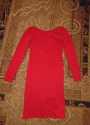 Красное платье с открытой спиной 1+1=3 при покупке 2-х вещей третья в подарок1