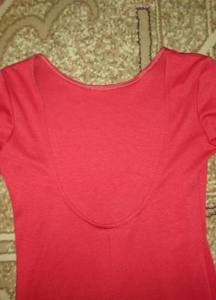 Красное платье с открытой спиной 1+1=3 при покупке 2-х вещей третья в подарок3