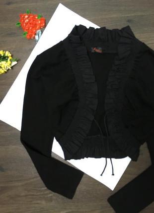 Чёрное болеро /элегантное под платье /uk 10