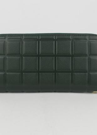 Кошелек женский кожаный на молнии 2-002-94 зеленый, расцветки5