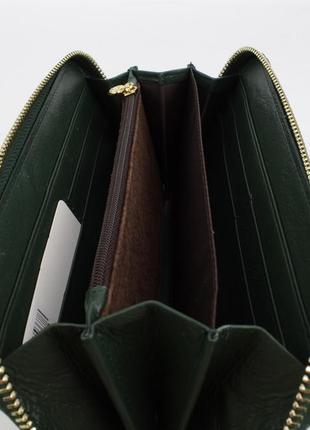 Кошелек женский кожаный на молнии 2-002-94 зеленый, расцветки3